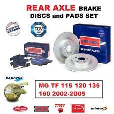 Para Mg Tf 115 120 135 160 2002-2005 Eje Trasero Discos de Freno (240mm