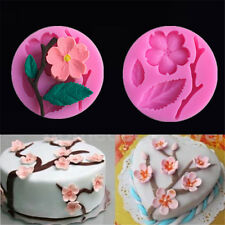 3D Food-grade Silicone Mold Peach Blossom Shape Cake Chocolate Candy Mould Tool
