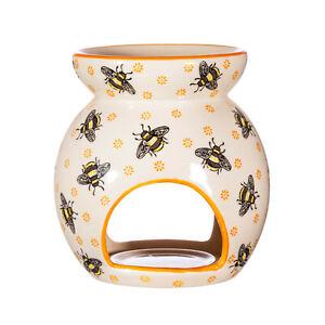Sass & Belle Handpainted Busy Bee Fine China Oil Tea Light Burner IRIS0678