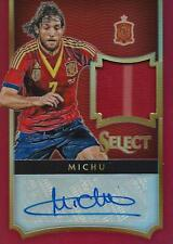 2015 Panini seleccionar fútbol Michu 11/49 España autógrafo & juego jersey usado
