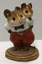 Wee Forest Folk   Piggy Back Mousey  M-129   Retired