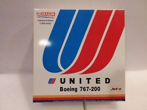 """United Airlines Boeing 767-200 1/400 Scale by Jet-X **1of ONLY 1000"""""""