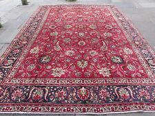 Old Hand Made Traditional Persian Oriental Red Wool Large Carpet 390x285cm