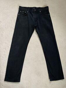 Men's Hugo Boss Maine Regular Fit Black Stretch Jeans W34 L32 (D58)