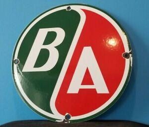 VINTAGE BRITISH AMERICAN PORCELAIN GAS AVIATION SERVICE STATION PUMP PLATE SIGN