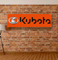 Kubota Vinyl Banner Sign Garage Shop Adversting Flag Poster Tractors Advertising