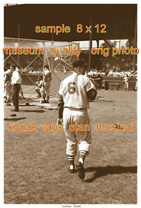 STAN MUSIAL ST. LOUIS  RARE ORIG PHOTO OF AT BATTING PRACTICE SEPIA VERSION 8x12