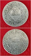 JOLIE! Monnaie ARGENT 20 Francs MAROC 1934