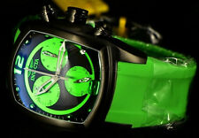 Invicta 6725 Lupah Revolution Chronograph Black Ion-Plated Green Poly Strp Watch