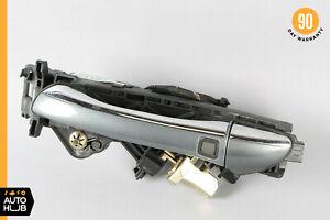 03-06 Mercedes W220 S500 S55 Rear Left Keyless Go Exterior Door Handle Gray OEM