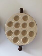 1x  Emile Henry 12 Hole Escargot Snail Serving Dish In near mint Condition