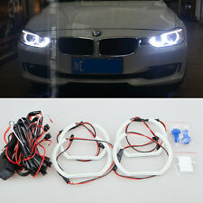 4x WHITE led SMD Angel Eyes Halo Rings Headlight light For BMW F30 E90 E92 M3 M4