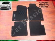 set TAPPETINI FIAT 500 cinquecento MOQUETTE ORIGINALI 4 PZ ANT + POST logo 2 pin