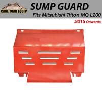 Steel Engine Bash Plate Sump Guard For Mitsubishi Triton MQ L200 2015 onwards