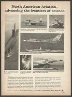 North American Aviation-Hound Dog  missile -Polaris submarine-1964 Vtg Print Ad