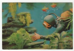 Skin Diver / Scuba Diver misnamed 1960's Vari-Vue Lenticular 3-D Postcard