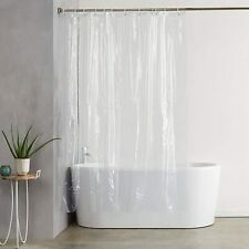 Shower Curtains for Bathroom Clear Shower Curtain Liner with 12Pcs Curtain Hooks