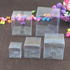 PVC New Transparent Cube Candy Boxes Clear Wedding Party Cup Cake Packaging Box