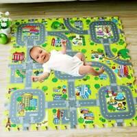 Children's Road Map Kids Play Mat Race Car Rug Runner Nursery Home 90X90cm