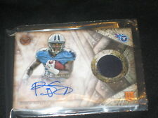 BISHOP SANKEY TITANS ROOKIE CERTIFIED AUTOGRAPHED SIGNED FOOTBALL JERSEY CARD