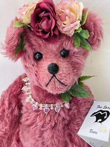 "Vintage A Free Spirit Bear Mohair Teddy Bear 13"" ""Ivy"" by Pat Lyons"