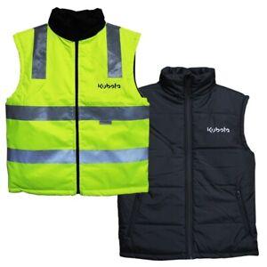 Kubota Branded Reversible Hi-Vis Yellow Vest with black Inner Padding