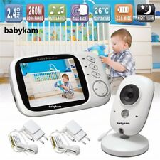 Wireless 2-Way Talk Baby LCD Monitor Babysitter Video Camera Temperature Display
