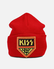 Kiss Army Red Hipster Retro Vintage Rock Band Logo Licensed Beanie Winter Hat