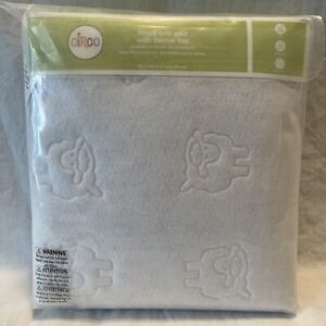 Circo Fitted Waterproof Crib Pad with Fleece Top White 28 Inches X 52 Inches New