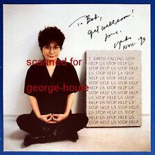 YOKO ONO -  PHOTOGRAPH - SIGNED -1993 - NYC - JOHN LENNON - BEATLES