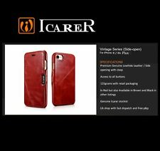 Genuine Leather Icarer Iphone 6 Plus / 6s Plus wallet / Red / UK Icarer stockist
