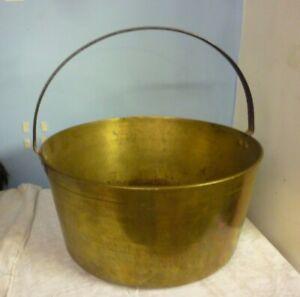 Victorian Brass Jam Preserve Pan Very Heavy Gauge with Iron handle