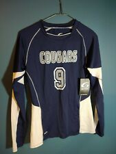 Gtm Sportswear Ladies Authentic warm up shirt blue and white cougars #9 medium