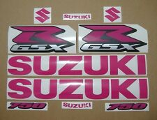 GSXR 750 hot pink decals stickers graphics kit set adhesives rosa aufkleber logo