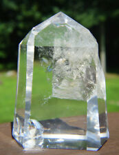 Polished Lemurian Quartz Crystal w Natural Contact Area