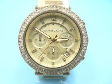 New Old Stock MICHAEL KORS Chronograph Gold Plated MK5354 Quartz Women Watch