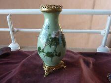 petit vase celadon emaillé chinois,monture bronze,H 23cm