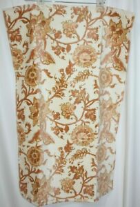 """Pottery Barn Towel Bath Hand Towel Floral Pink Coral Ivory Cotton 20""""x30"""" New"""
