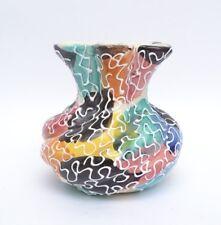 Fabulous Mid Century Vintage 50s Multi Coloured Italian Art Pottery Vase