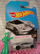 '17 FORD GT #211✰Silver; black pr5✰NIGHTBURNERZ✰2017 i Hot Wheels WW case J/K