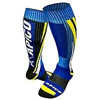 Apico Motocross Enduro Socks Knee Length Off Road NEW Blue Yellow White S/M/L
