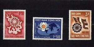 VIETNAM #255-257 MNH ANNIVERSARY OF THE BIRTH OF BUDDHA