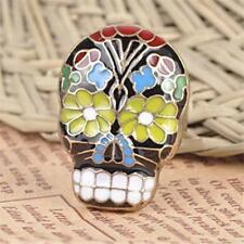 Fashion Skull Mask Ring Peking Opera Facebook Cocktail Finger Ring Flower Tooth