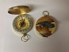 """Morris Minor série 2 split screen """"face lift REF164 emblème sur un golden compass"""