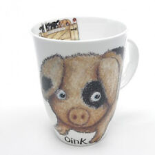 Roy Kirkham Please Shut The Gate Pig Mug Bone China 400ml Cute Fun Country Farm