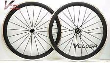 50mm clincher road bike carbon alloy wheelset, carbon wheel ,alloy brake surface