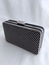 NWT Authentic Michael Kors Black & Silver Studded Clutch/Shoulder/Evening Bag.