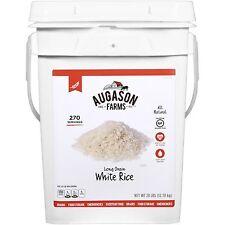 Augason Farms Emergency Food Long Grain White Rice 28 lb