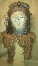 FANG NGONTANG Helmet Mask Raffia Wood Carving African Art Collectibles