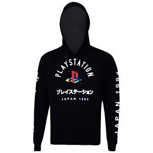 Playstation Japanese Logo Hoodie Sweatshirt Black